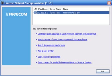 Freecom Network Storage Assistant 4.