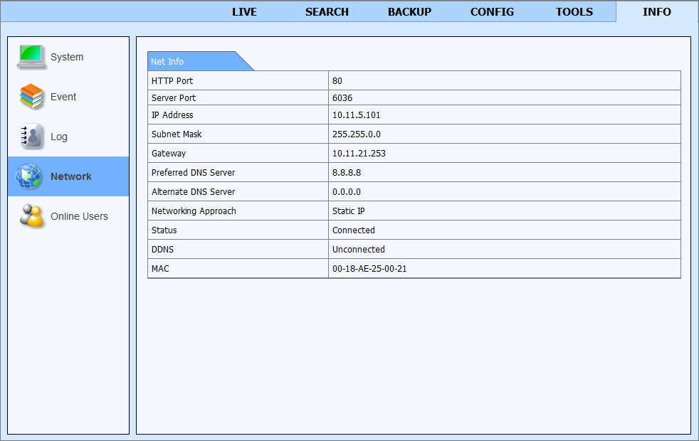 NDR-BA3104 User s manual ver.1.0 NETWORK OPERATIONS UTILIZING WEB BROWSER 6.9.