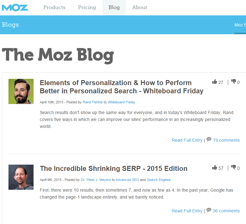 MOZ - Search Engine