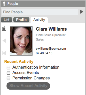 Identity Integration - Activity What applications has this user been using?