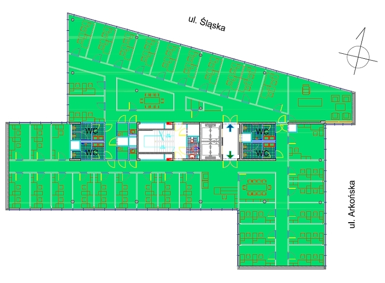 RZUT TYPOWEGO PIĘTRA 784 m 2 TYPICAL FLOOR PLAN 784 sq.
