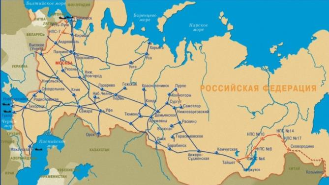 000 km Pipeline 99,5% oil in Russia VSTO II: East Siberia Pacific Ocean Jan 2010-2014