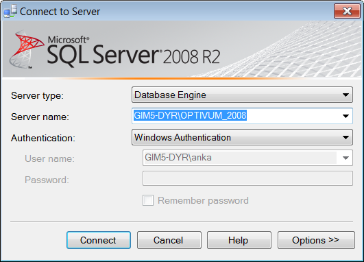 Instalacja Microsoft SQL Server 2008 R2 Express z płyty Optivum 5/6 5. Zamknij program SQL Server Configuration Manager.