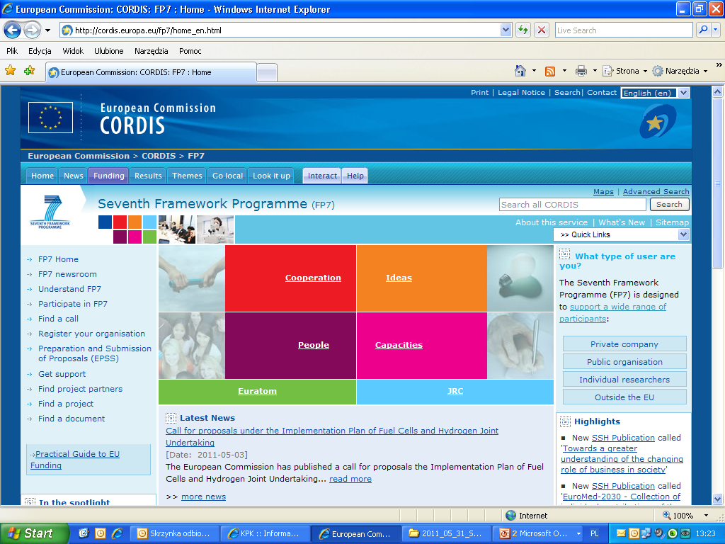 CORDIS-Community Research and Development Information Service http://cordis.europa.