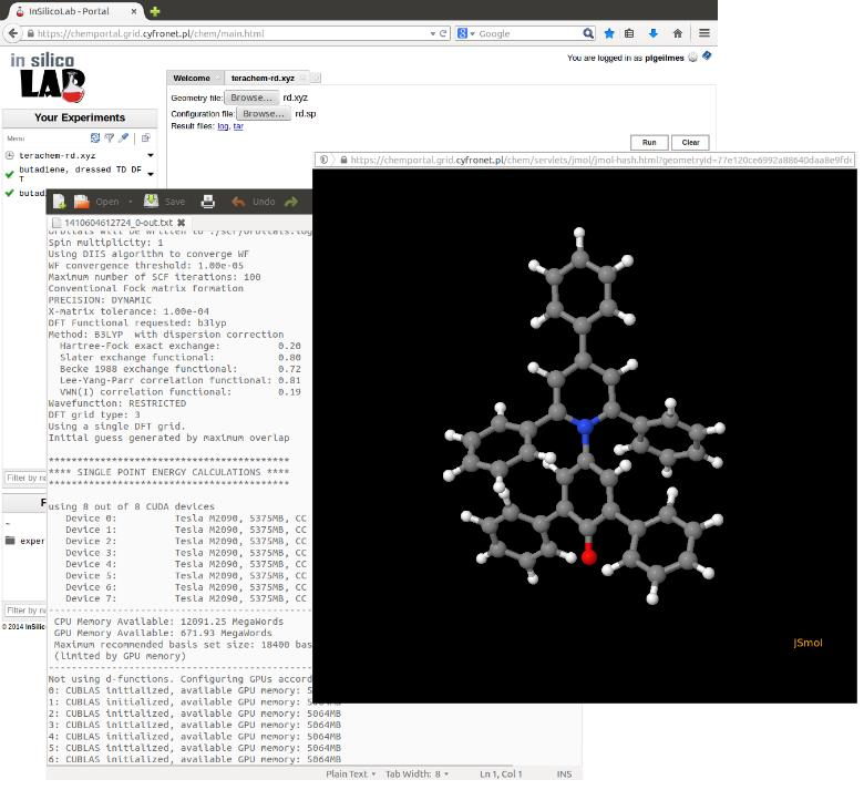 Computational Chemistry 47 Objective: building the repository of experimental data (related mainly to the excited states of molecules), together with the results of tests of computational models