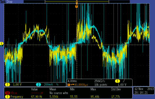by digital oscilloscope in a high-voltage circuit (Fig. 2).