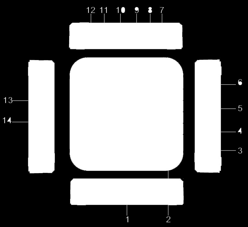Front and Rear Panel 1. REMOTE CONTROL Sensor: Used to receive the signal from the remote controller. 2. STANDBY button: Switch between standby and operation mode. 3.