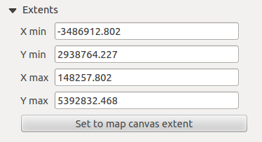 Rysunek 18.4: Map Item properties Tab properties, you can update the print composer view selecting the map element in the print composer and clicking the [Update preview] button.