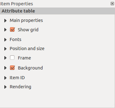 Rysunek 18.22: Arrow Item properties Tab Main properties For Basic shapes, this dialog allows you to choose a Ellipse, Rectangle or Triangle shape and its rotation.
