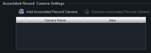 B-Viewer - manual, ver. 1.0 ALARM MANAGEMENT Choose Add Associated Record Camera to begin the recording connected to selected alarm output.