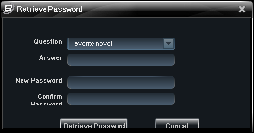 B-Viewer - manual, ver. 1.0 PASSWORD RECOVERY 12.