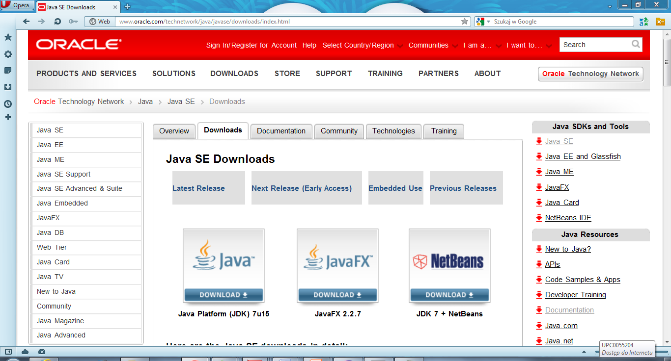 Java Development Kit (JDK) http://www.oracle.