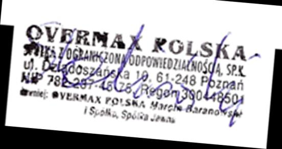 We, the undersigned: Manufacturer: Address, City: Country: Declaration of Conformity Overmax Polska Spółka z Ograniczoną Odpowiedzialnością, S.K. ul.