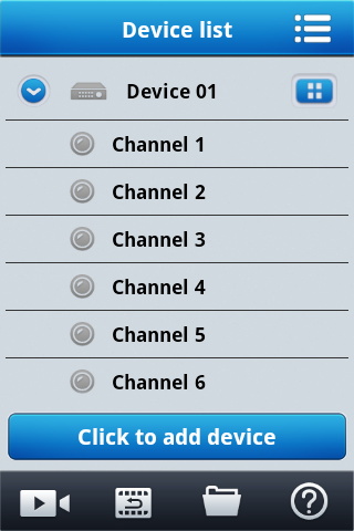 Applications client for mobile devices for 3000 series NVR s - user manual ver.1.