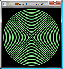 GraphicsWindow.Width = 200 GraphicsWindow.Height = 200 For i = 1 To 100 Step 5 GraphicsWindow.