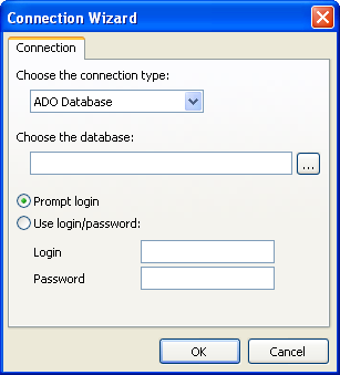 Wizards 13.2 186 New connection wizard This wizard allows you to add a new database connection into existing report.