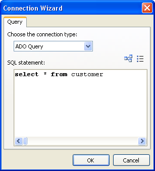 Wizards 13.4 188 New query wizard This wizard allows you to add a new SQL query into existing report. the You need to specify the SQL here. You can use visual query builder to do this - push button.