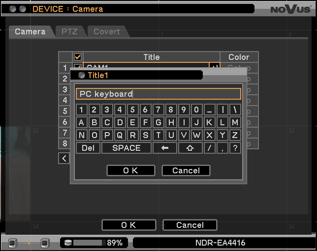 E-Viewer - user s manual, ver. 1.1 REMOTE DVR MANAGEMENT Please use a mouse to navigate through the DVR menu. Please press the OK button to accept changes in current submenu.