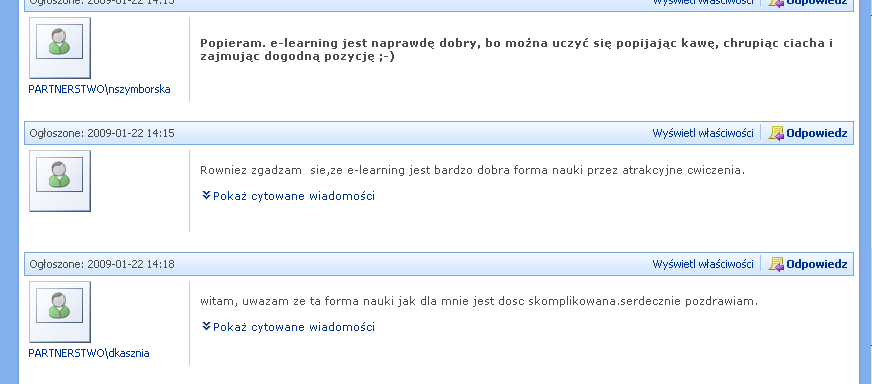 Forum e-learning jako nowa
