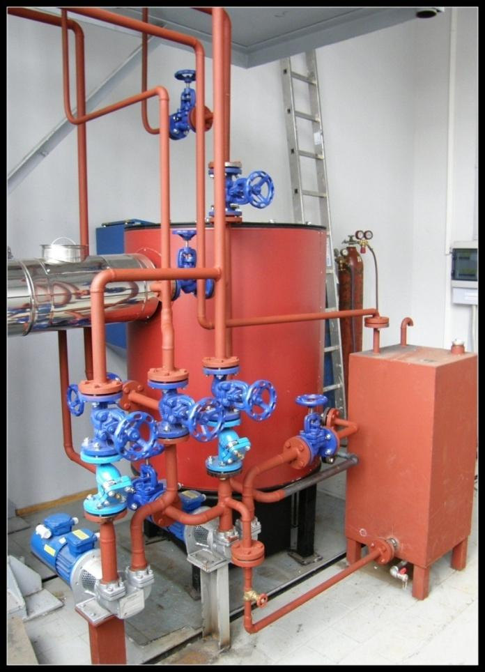 Oil boiler with a cooling loop