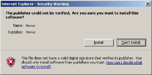 Depending on the current Internet Explorer security settings it may be necessary to accept an ActiveX control.