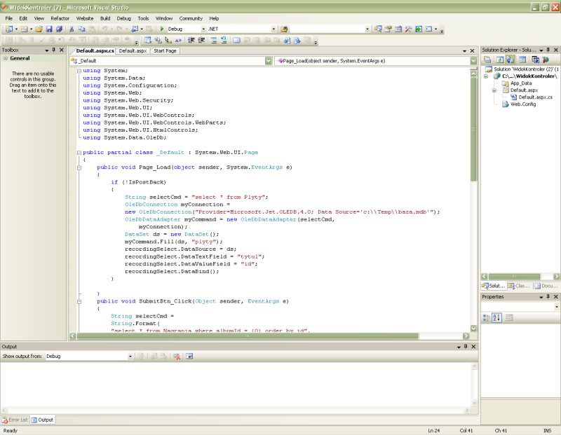 Demo w Visual Studio: Proces