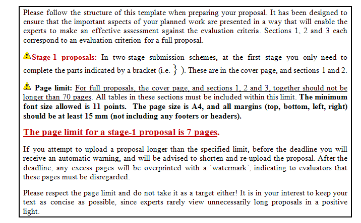 Proposal template (technical annex) Research