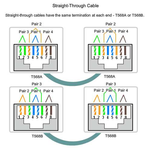 Types of Connections in a LAN Identify the pinout of the straight-through and crossover cables 15