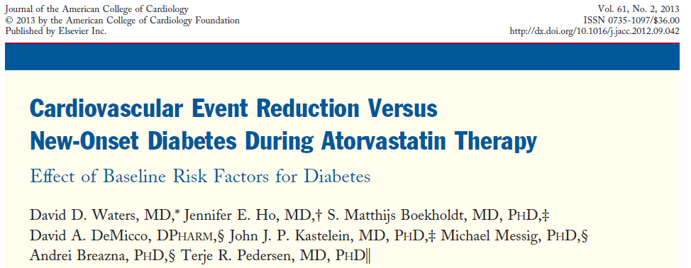 Although it does appear that statins may increase the chance of diabetes in high-risk patients, this should not