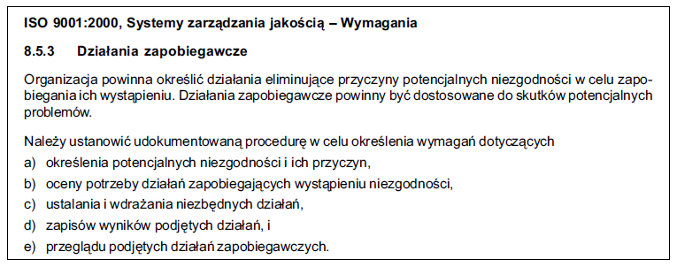 Wymagania normy PN-ISO