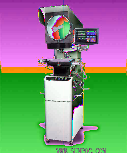 SP-3015B Φ300 profile projector Application: This digital type high-precision projector is a highly efficient measuring instrument integrating light, machine and electricity.