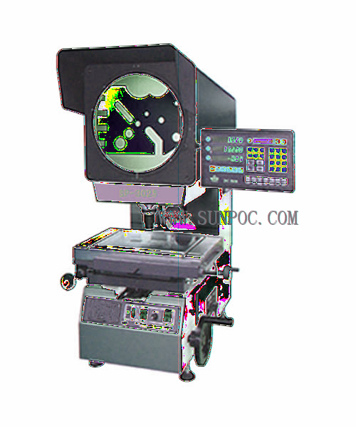 SP-3025 Φ300 Profile Projectors This series of profile projectors are famous for its excellent quality of the optical system. It is processed of clear image and accurate magnification.