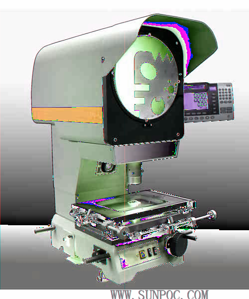 SP-20 Φ300 Digital Measuring Projector Features: The metal structure of the projecting box is light in weight.