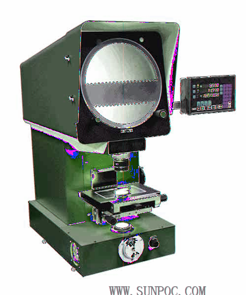 SP12B3 Φ 250 digital profile projector HARDNESS TESTER Features: The product has beautiful outline and external readout. Its operation is simple and it suit for online inspection.