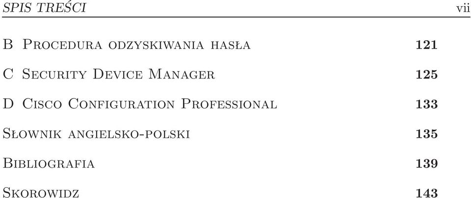 Cisco Configuration Professional 133 Słownik