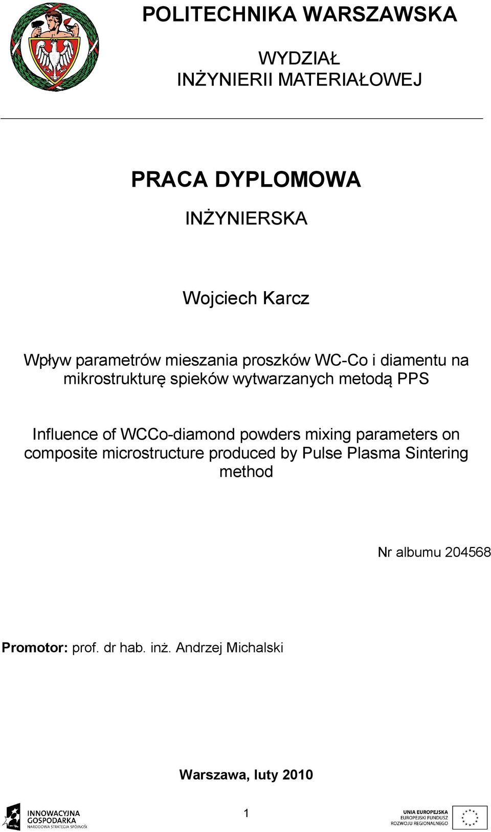 Influence of WCCo-diamond powders mixing parameters on composite microstructure produced by Pulse