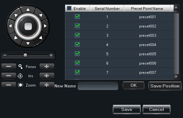 B-Viewer - manual, ver. 1.0 DEVICE MANAGEMENT 3.3.5.2. Presetes settings The Presets Points Configuration menu manages presets. User can set or activate selected presets.