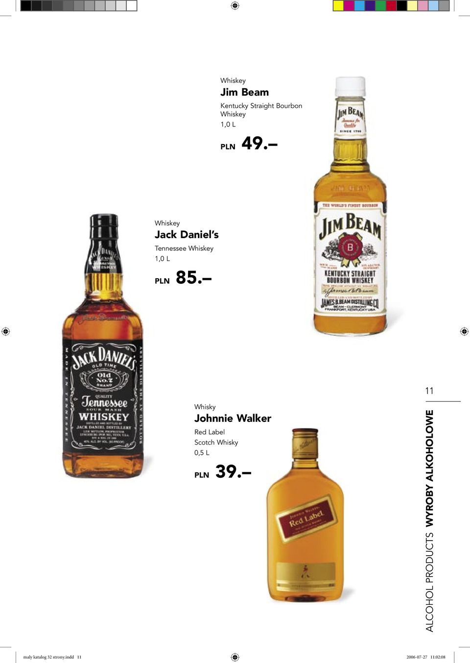 11 Whisky Johnnie Walker Red Label Scotch Whisky 0,5 L PLN 39.