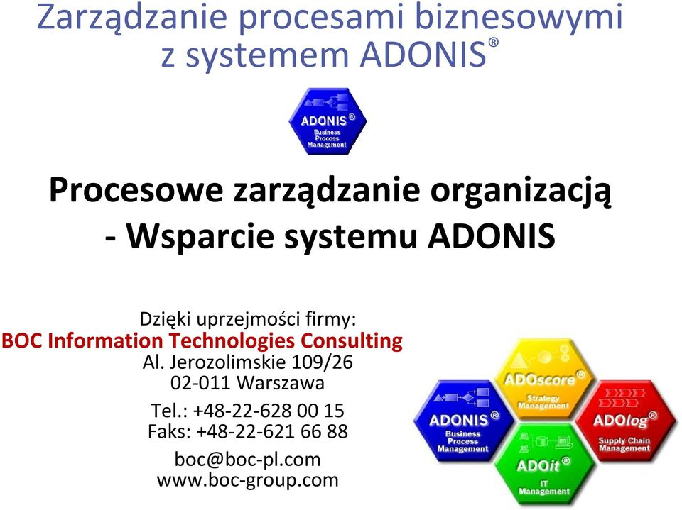 Information Technologies Consulting Sp. z o.o. Al.
