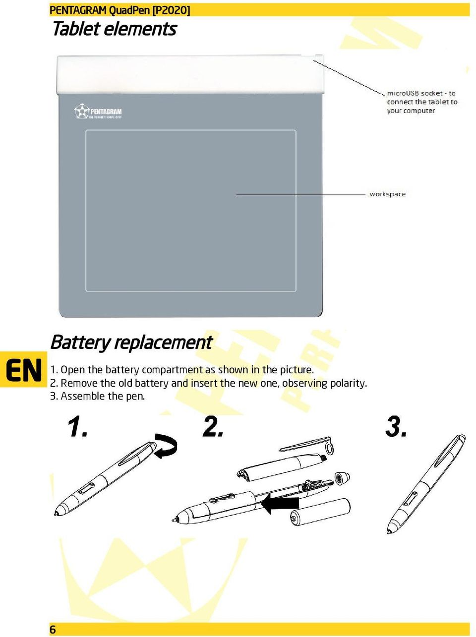 Open the battery compartment as shown in the picture.