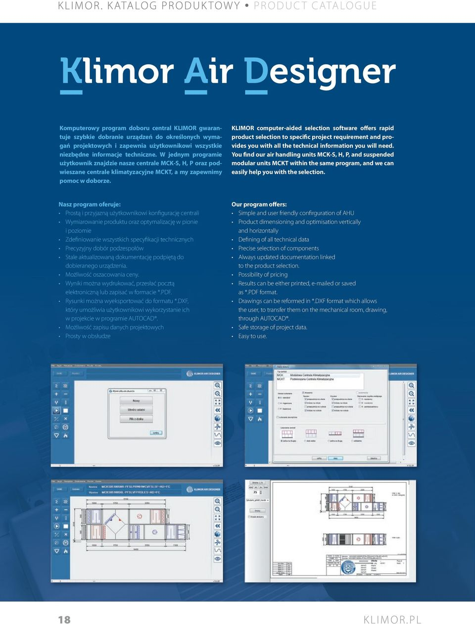 KLIMOR computer-aided selection software offers rapid product selection to specific project requirement and provides you with all the technical information you will need.