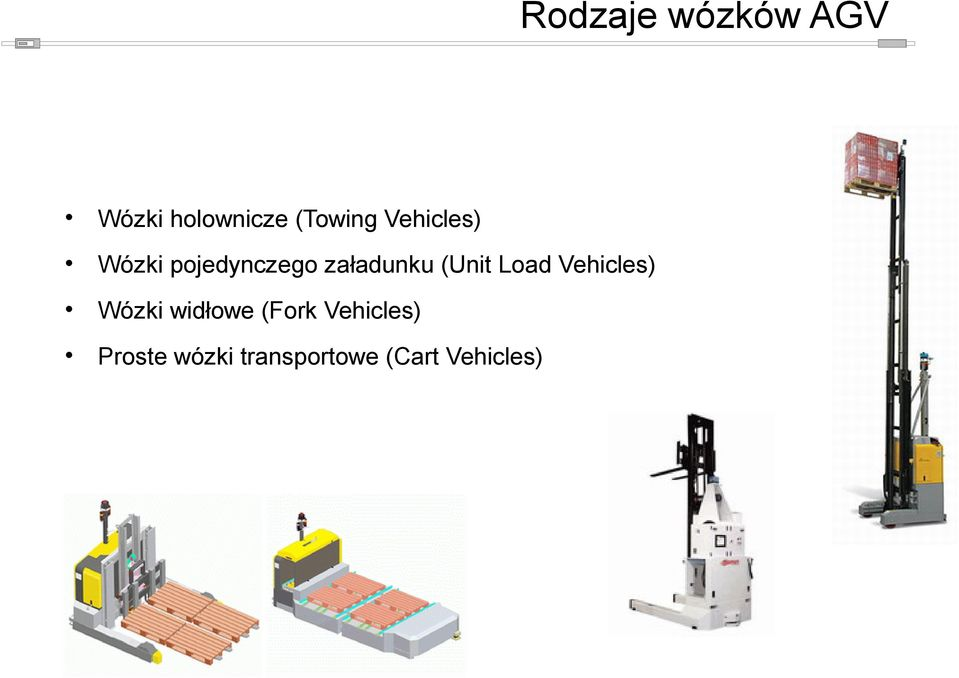 (Unit Load Vehicles) Wózki widłowe (Fork