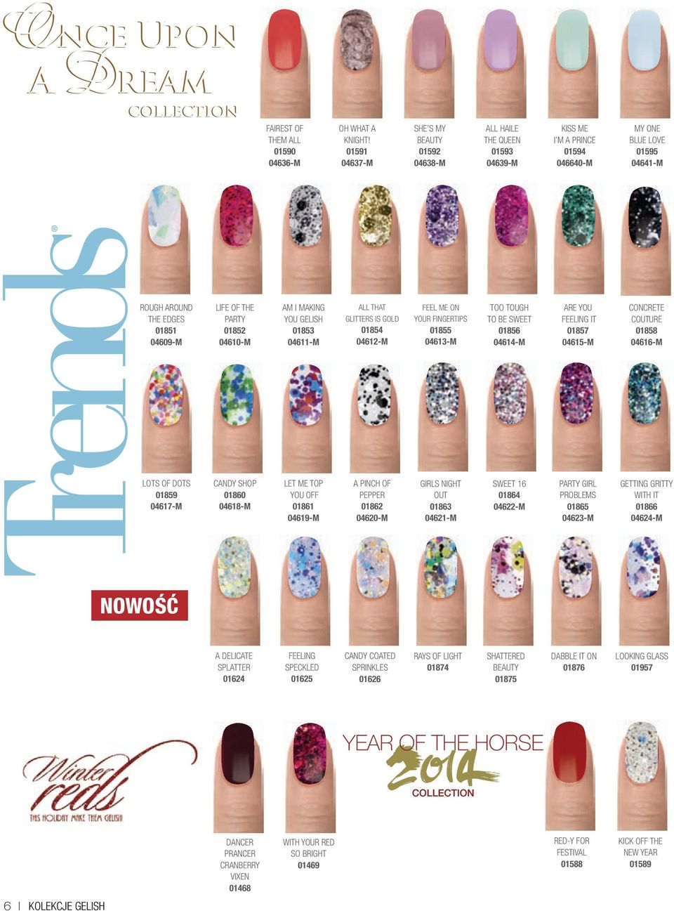 01852 04610-M AM I MAKING YOU GELISH 01853 04611-M ALL THAT GLITTERS IS GOLD 01854 04612-M FEEL ME ON YOUR FINGERTIPS 01855 04613-M TOO TOUGH TO BE SWEET 01856 04614-M ARE YOU FEELING IT 01857