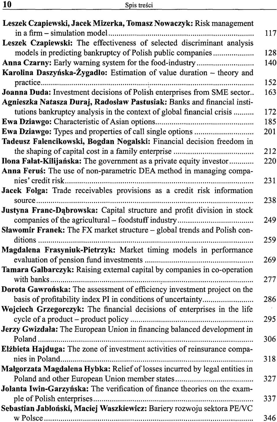 Joanna Duda: Investment decisions of Polish enterprises from SME sector.