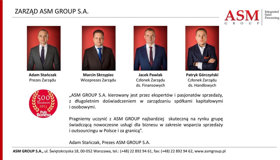 M GROUP S.A.