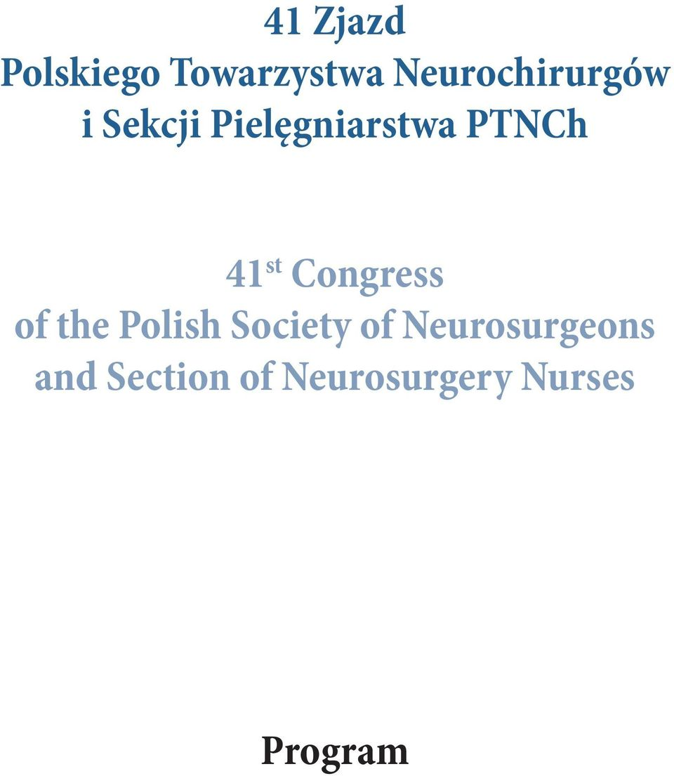 PTNCh 4 st Congress of the Polish Society