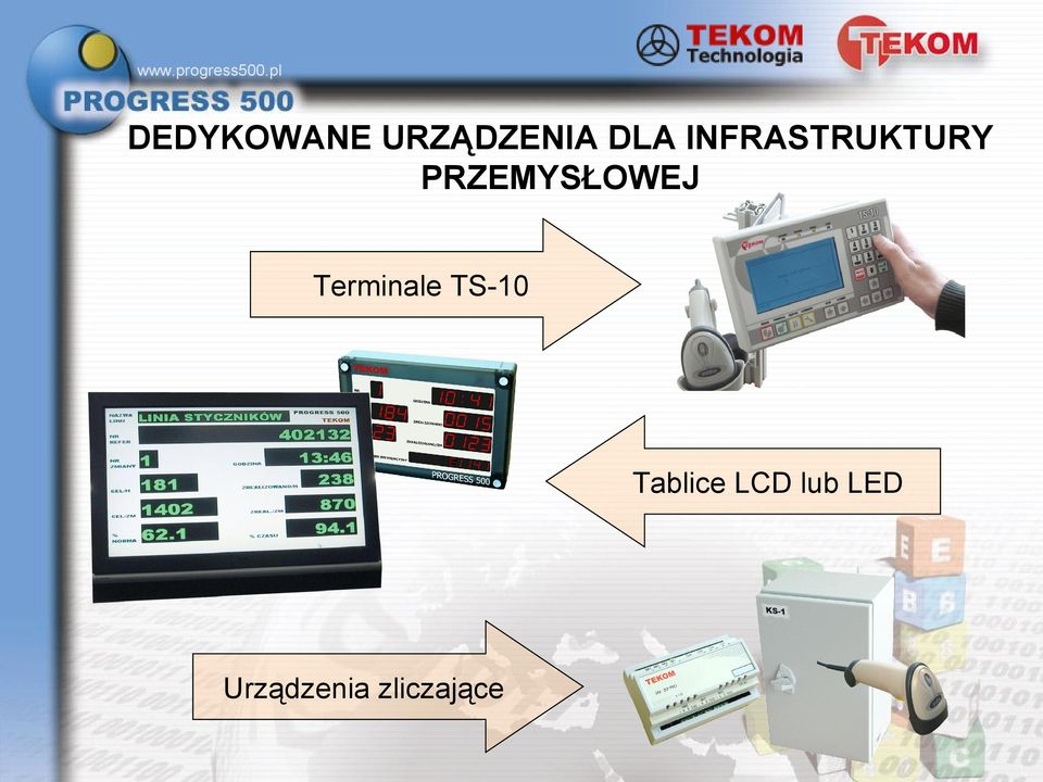 Terminale TS-10 Tablice LCD