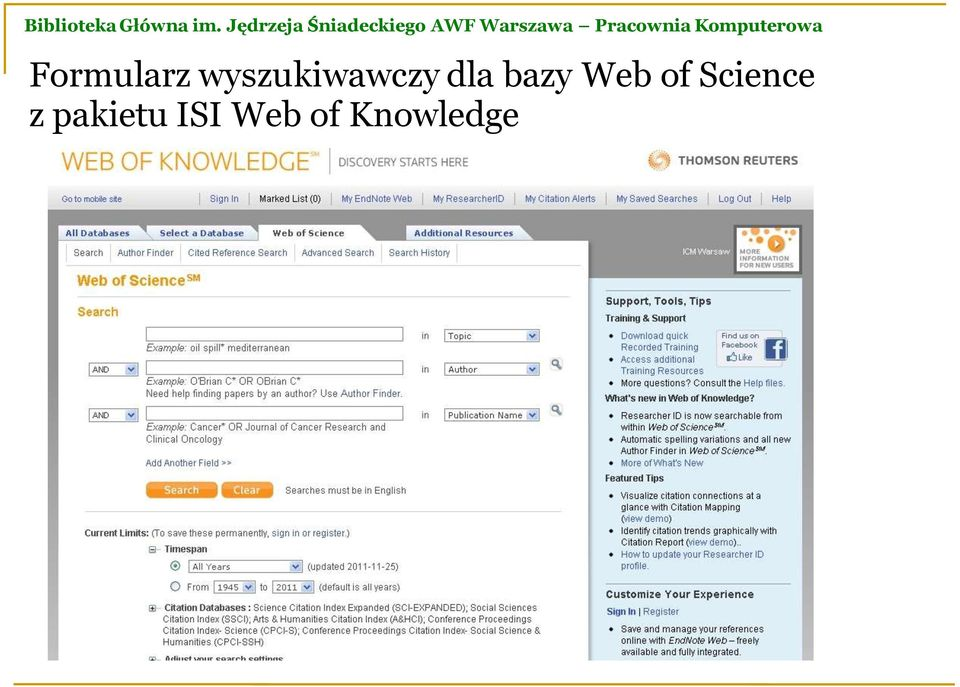 bazy Web of Science