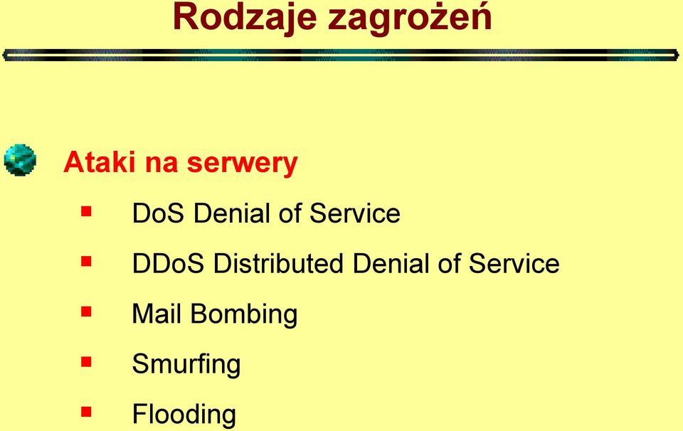 DDoS Distributed Denial of