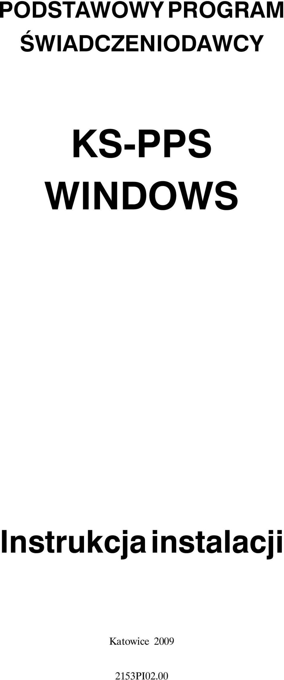 WINDOWS Instrukcja